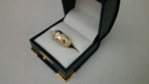 14k Yellow Gold and Diamond Scatter Ring