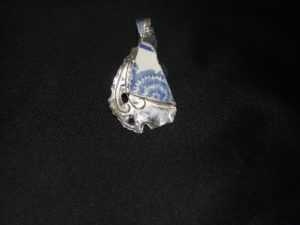 Pottery Shard Reticulated Silver