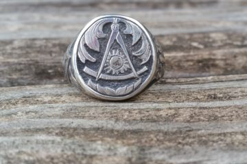 Hand Engraved Past Masters Mason Ring (1)