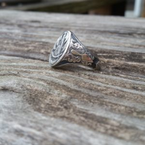 Hand Engraved Past Masters Mason Ring (2)