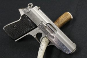 Close up of Walther PPK