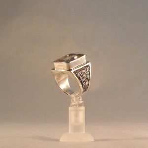 091314 Lemon Quartz Sterling Ring-1