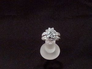 White Gold and Diamonds Ring with Guard
